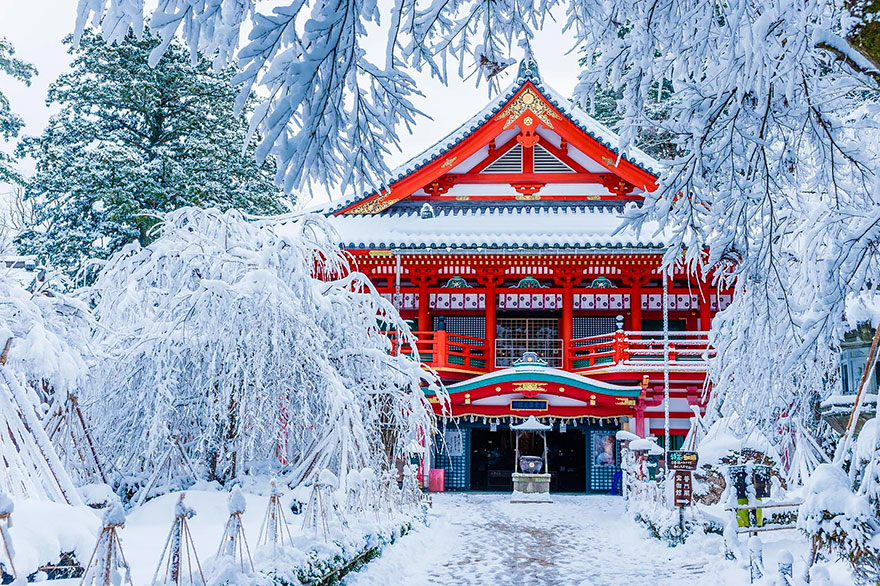 Natadera Temple In Winter