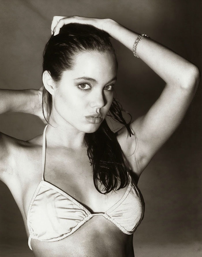 15-Year-Old Angelina Jolie During One Of Her First