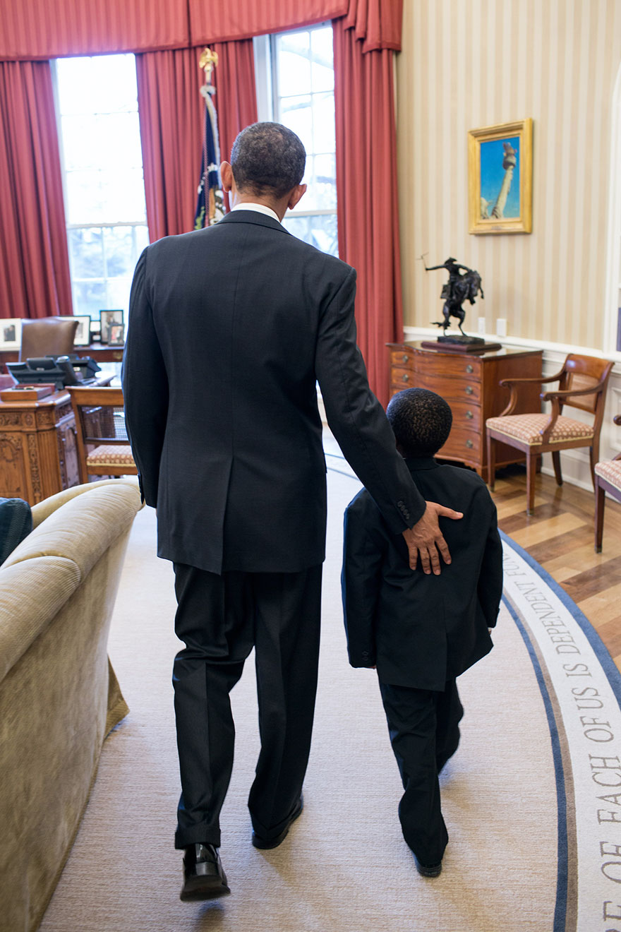 "President Barack Obama Welcomes Robby Novak, Known As ""Kid President,"" To The Oval Office"