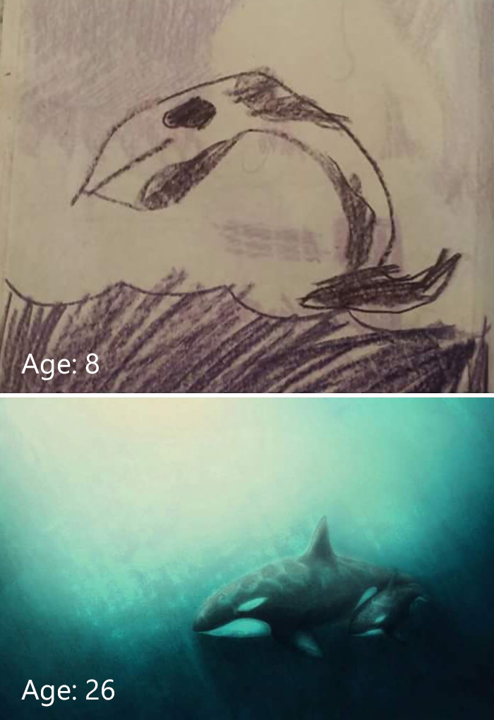 My Little Sisters Whale When She Was 8 Compared To Her Now At 26