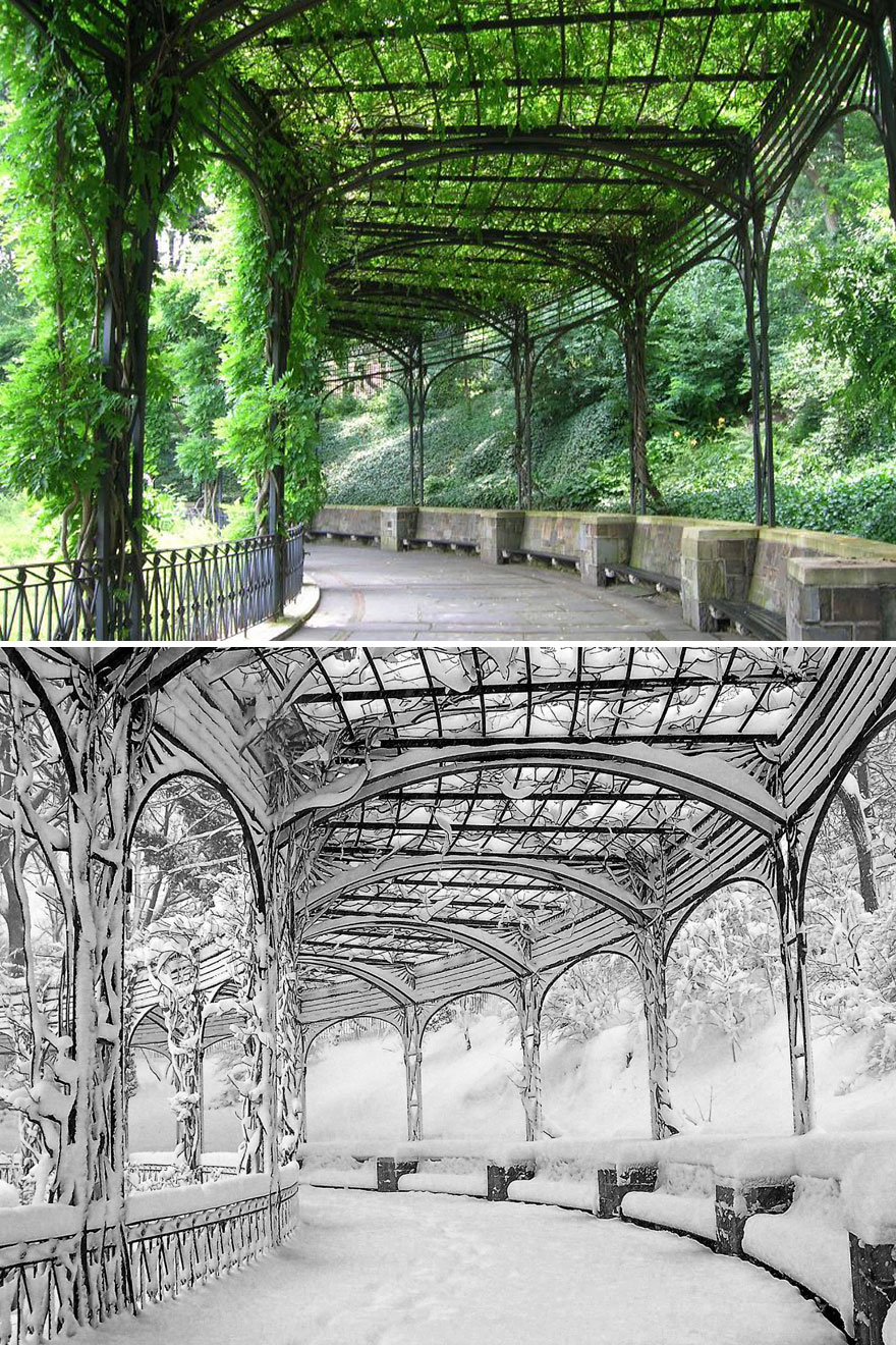 Pergola, Conservatory Garden, Central Park, New York, USA