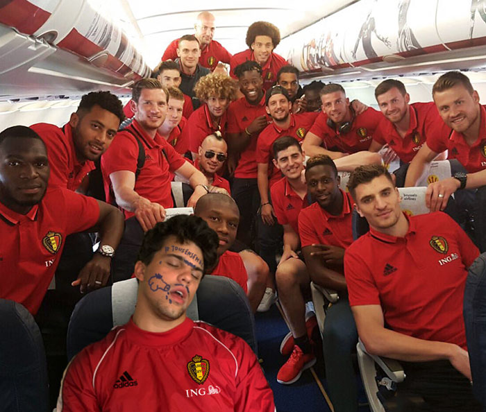 I Photoshoped Myself With The Belgian Red Devils During Euro 2016 In France