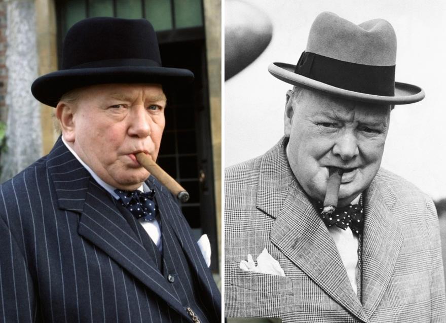 Albert Finney As Winston Churchill In The Gathering Storm (2002)