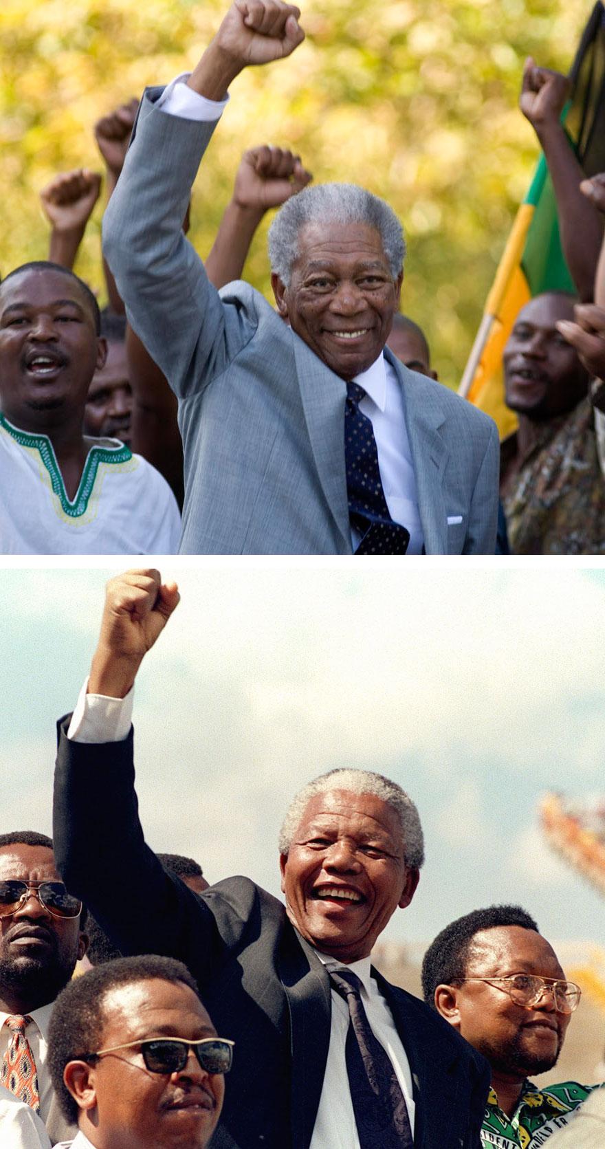 Morgan Freeman As Nelson Mandela In Invictus (2009)