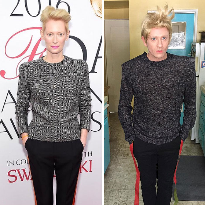 Tom Lenk As Tilda Swinton At Cfda