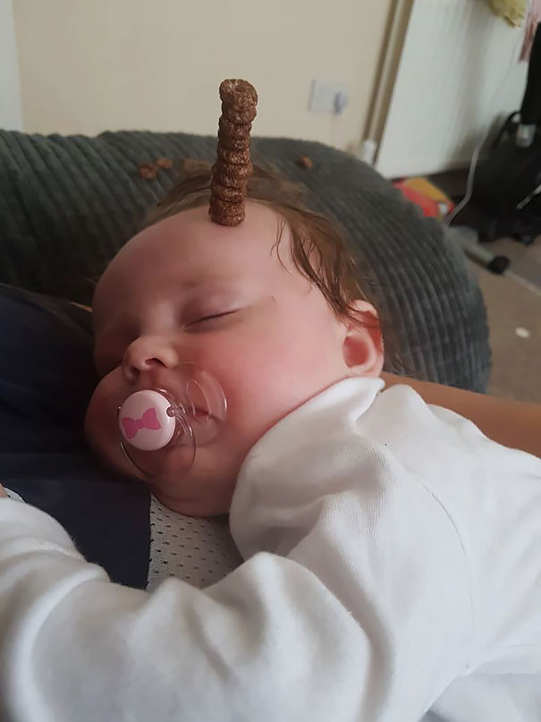 Challenge Accepted. You Guess... What's More...the Baby In Months, Or Cheerios On His Head?