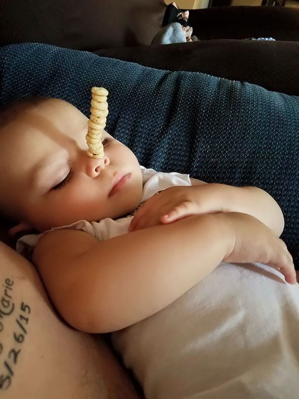 Just Turned 1. 12 Cheerios!