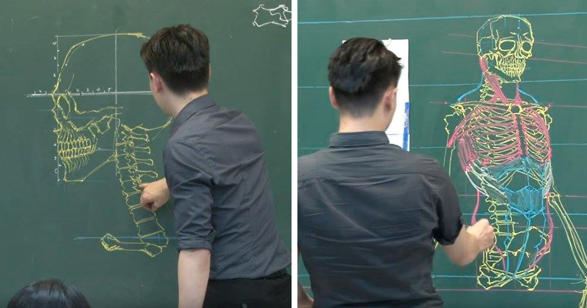 this taiwanese teacher has some mad chalk drawing skills bored panda