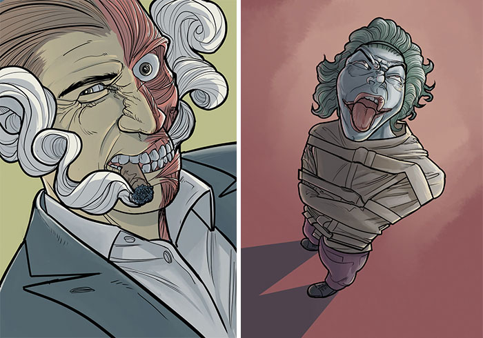 Artist Gives New Lives To Classic Comic Characters