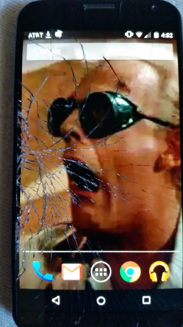 crack wallpaper phone