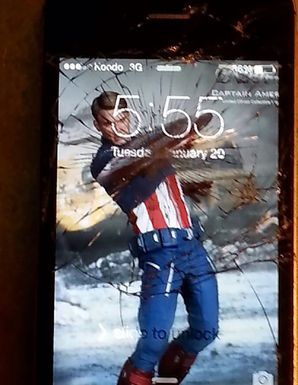 I Dropped My Phone Decided To Make The Best Of It...