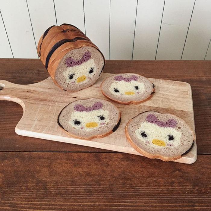 Illustrations Inside Loaves Of Bread
