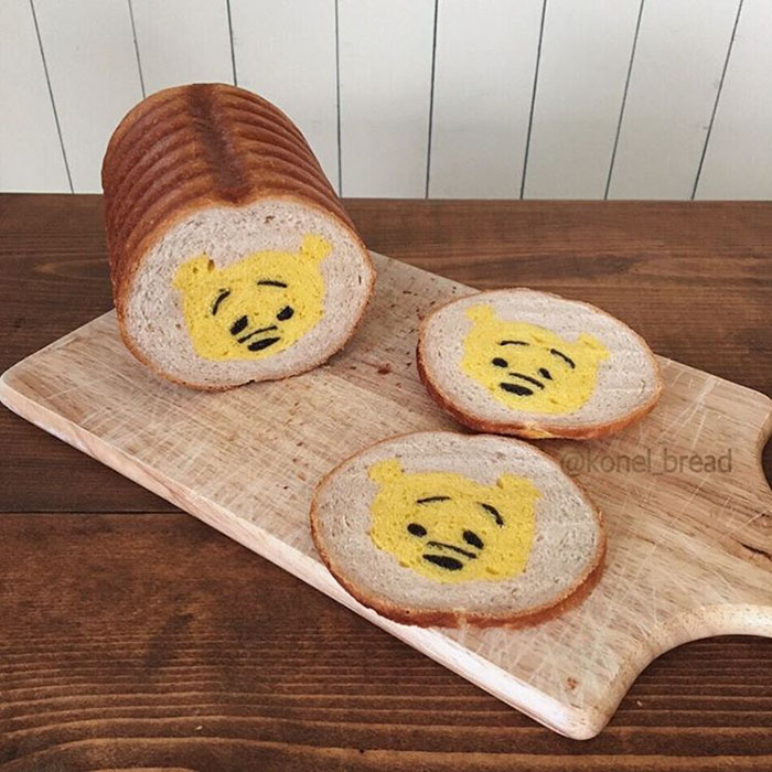 Illustrations Inside Loaves Of Bread