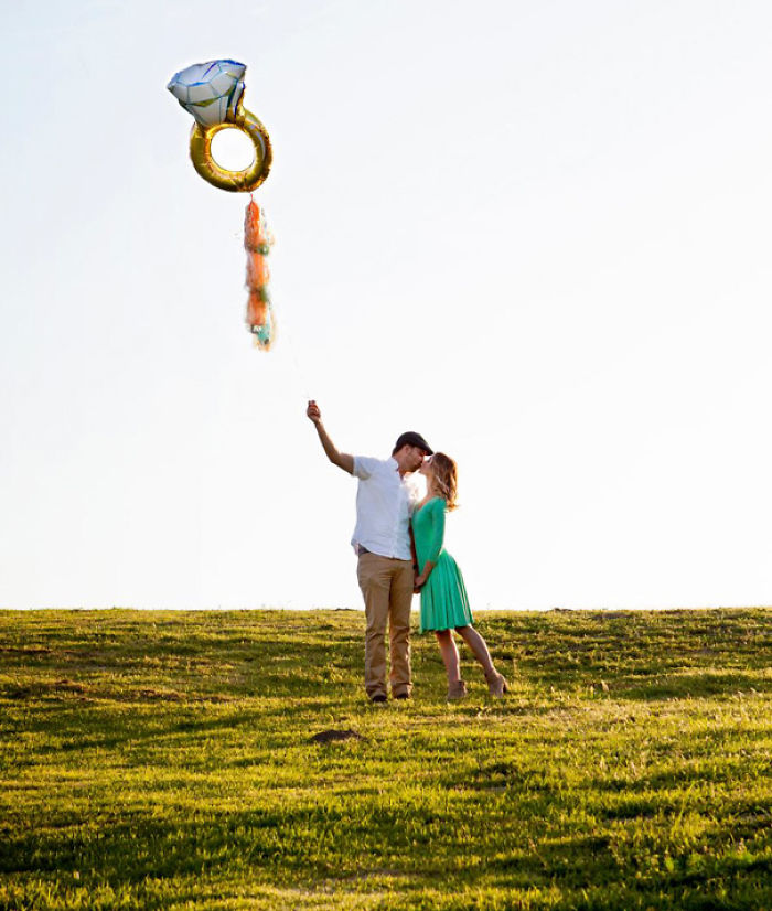 Ring Balloon Engagement Announcement