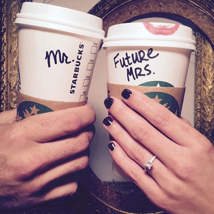 Starbucks Engagement Announcement