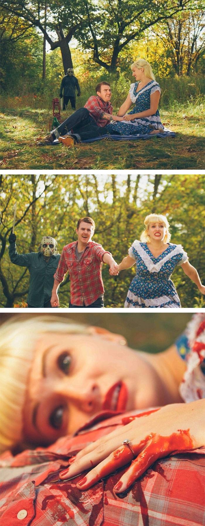 Horror Movie Engagement Announcement