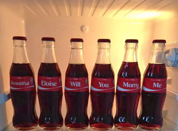 Share A Coke Marriage Proposal