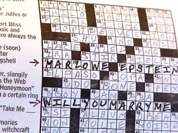 Man Proposed To Girlfriend In Special Washington Post Crossword