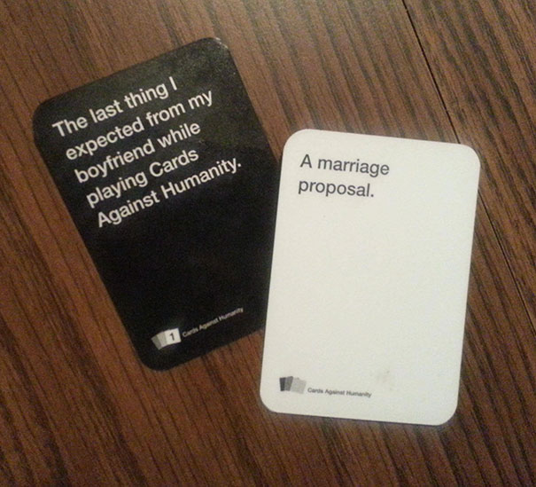 My Friend Proposed To His Girlfriend With Custom Cards Against Humanity Cards