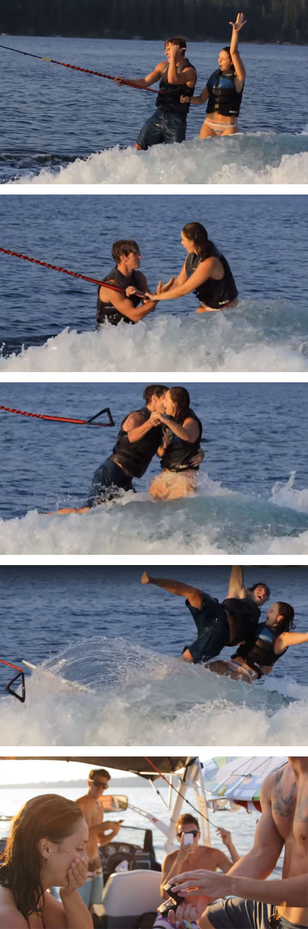My Friend Proposed While Tandem Wakesurfing. She Totally Didn't Expect That