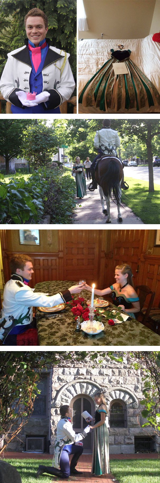Amazing Frozen-Themed Marriage Proposal