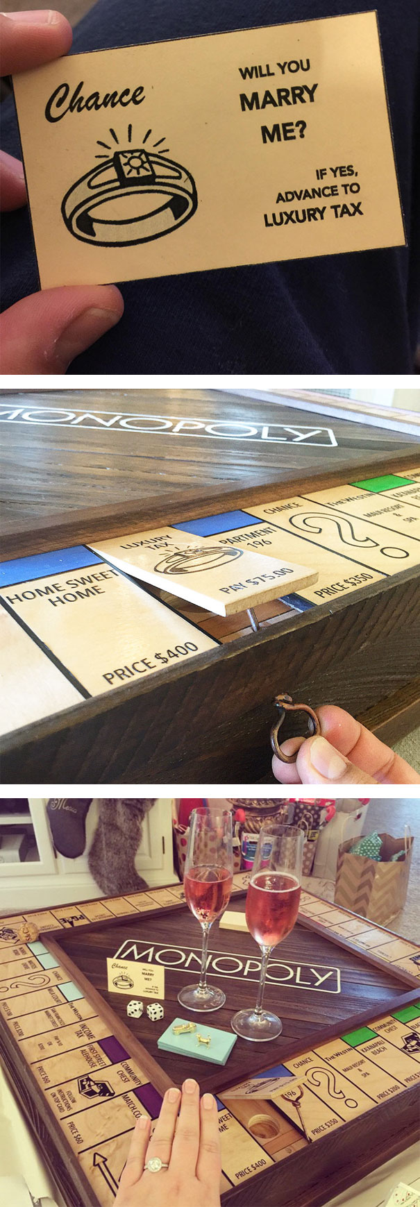 Proposal Using Custom-Made Monopoly Board With Secret Compartment