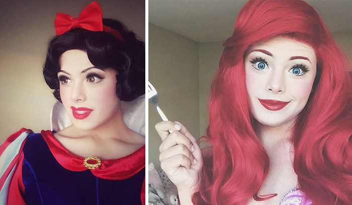 This Guy Transforms Himself Into Disney Princesses And His Makeup Skills Are Too Good