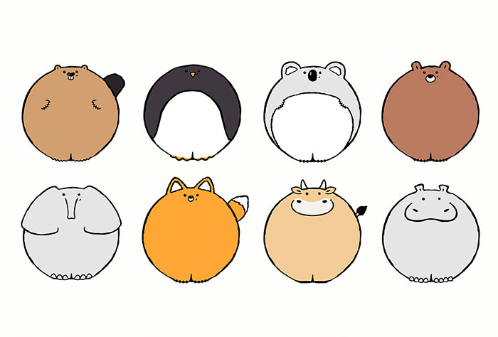 What If All Animals Were Circle-Shaped? (33 Pics)