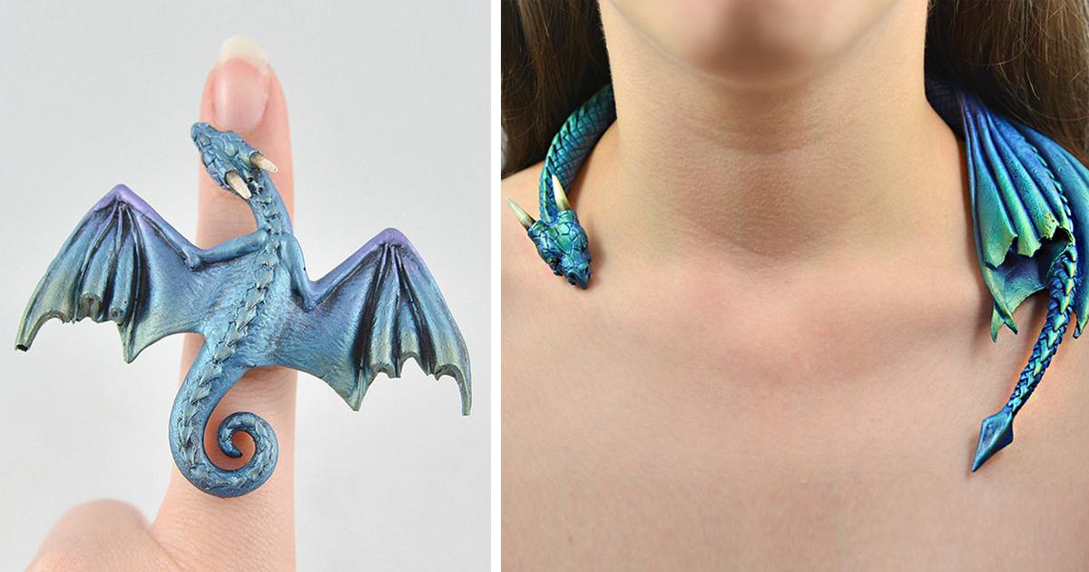 Украшения с драконами своими руками