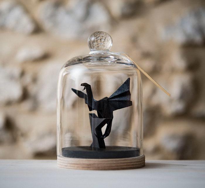 Origami Dragon Sculpture