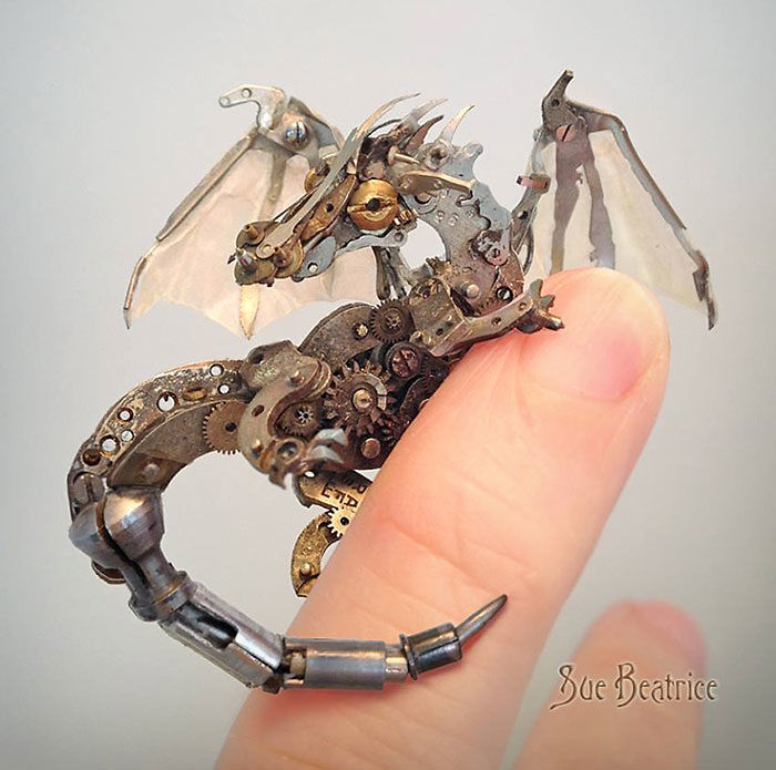 Steampunk Dragon Sculpture From Watch Parts