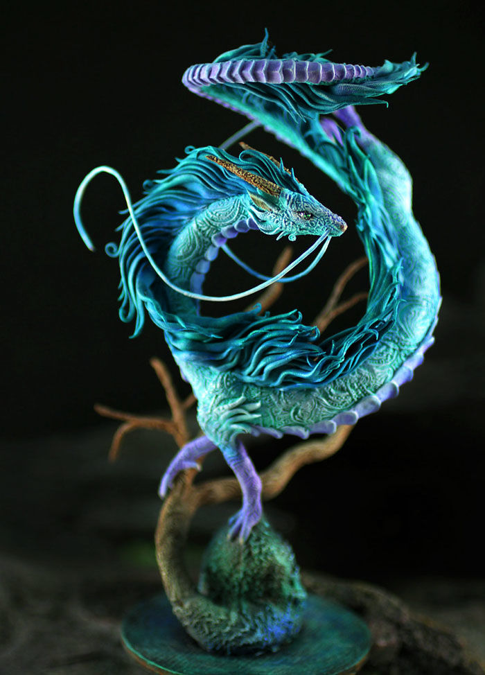 Sculpture Of Dragon Haku From Spirited Away