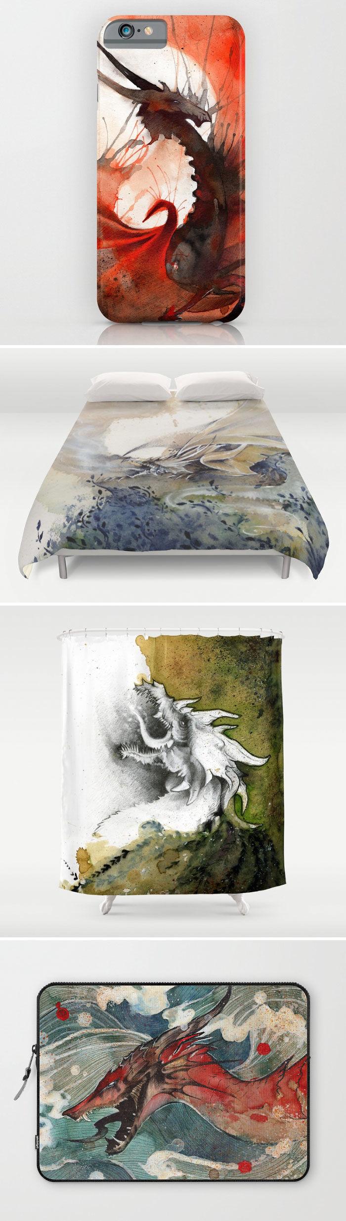 Rubis Firenos Dragon Art Items
