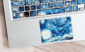 Keyboard Stickers That Turn Your Laptop Into Iconic Paintings
