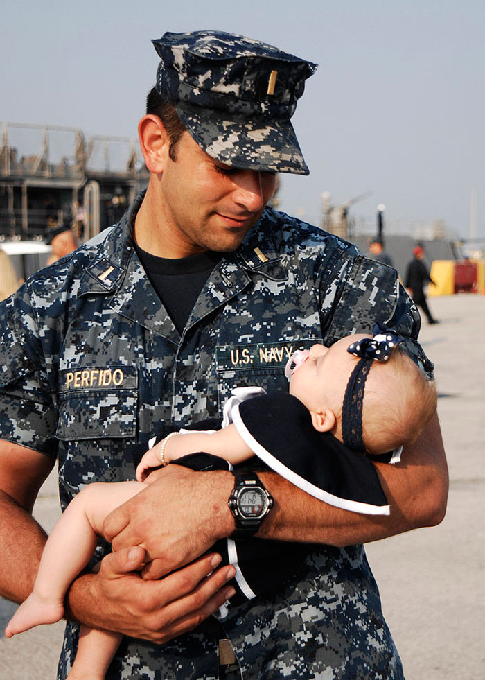 Soldier With His Daughter