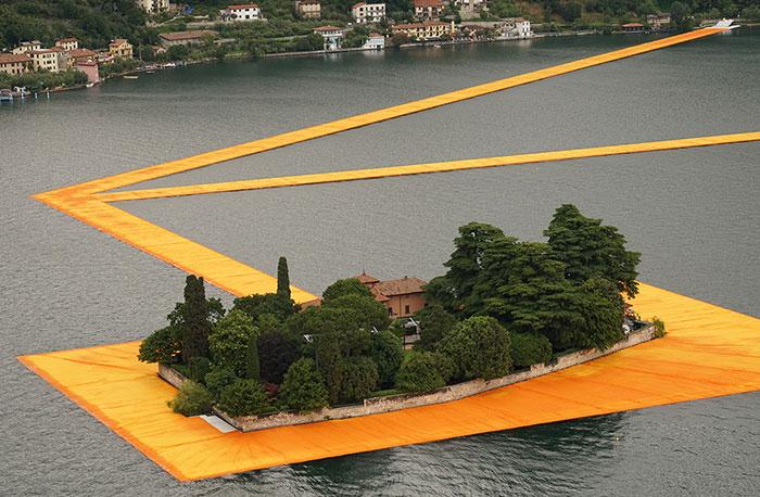 Christo's 3km Floating Walkway Across Italy's Lake Iseo Open To Public