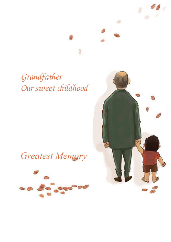 Painting: The Greatest Grandfather Who Always Loves Us Until The Last Day