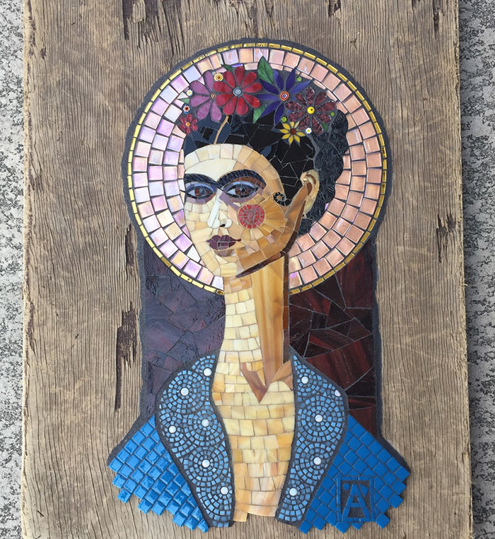 Frida Kahlo Inspired My Mosaic Art