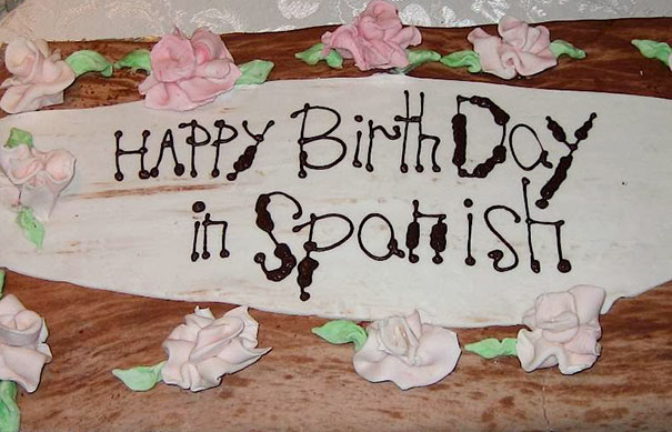 Funny Cake Decorating Fails : Happy Birthday In Spanish Bored Panda
