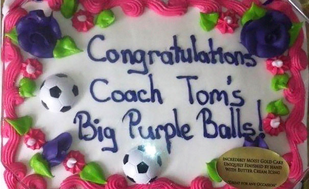 Coach Tom´s Big Purple Balls!