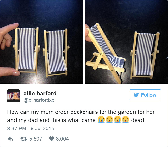 Mum Order Deckchairs For The Garden For Her And My Dad And This Is What Came