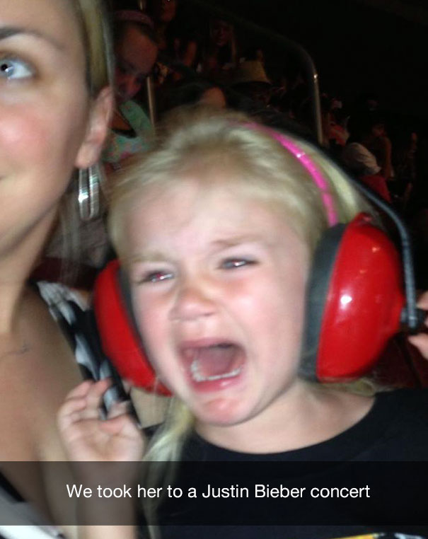 We took her to a Justin Bieber concert
