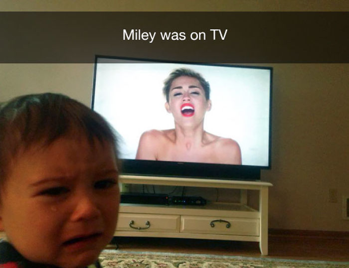 Miley was on TV