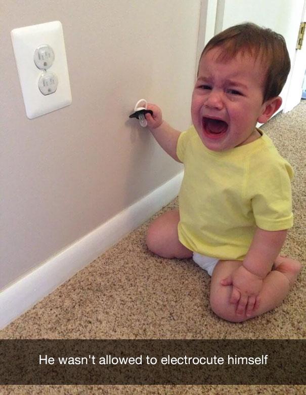 He wasn't allowed to electrocute himself