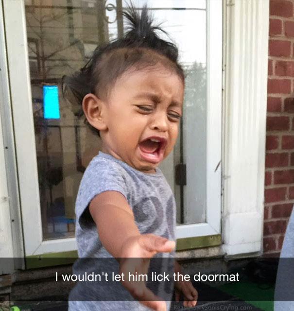 I wouldn't let him lick the doormat