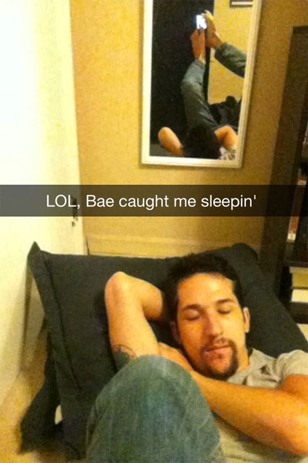 Lol, Bae Caught Me Sleepin