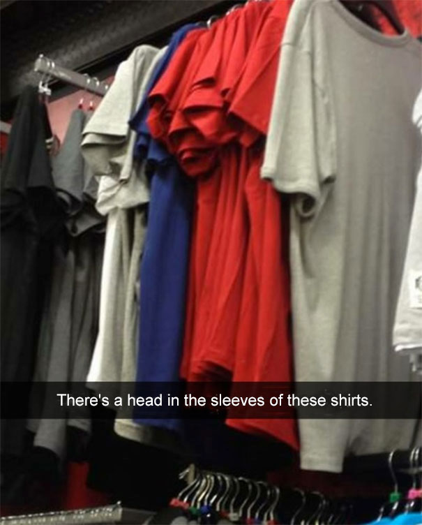 There's A Head In The Sleeves Of These Shirts
