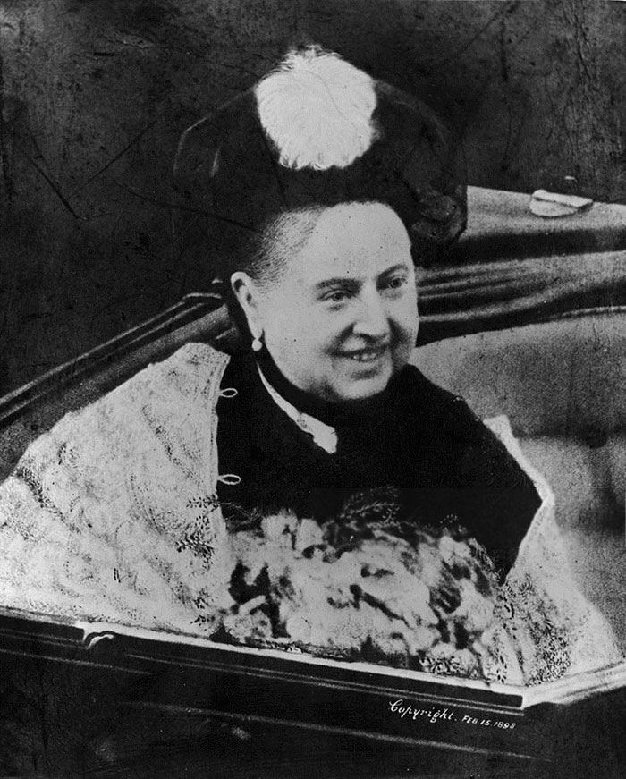 A Smiling Queen Victoria In An Open Coach, 1892