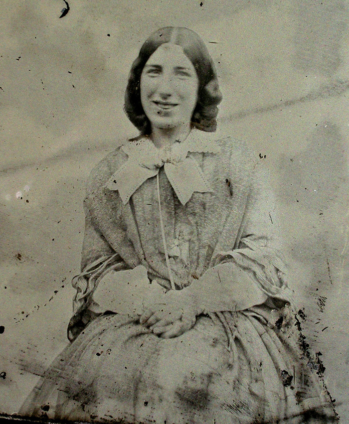 Smiling 1850s Lady