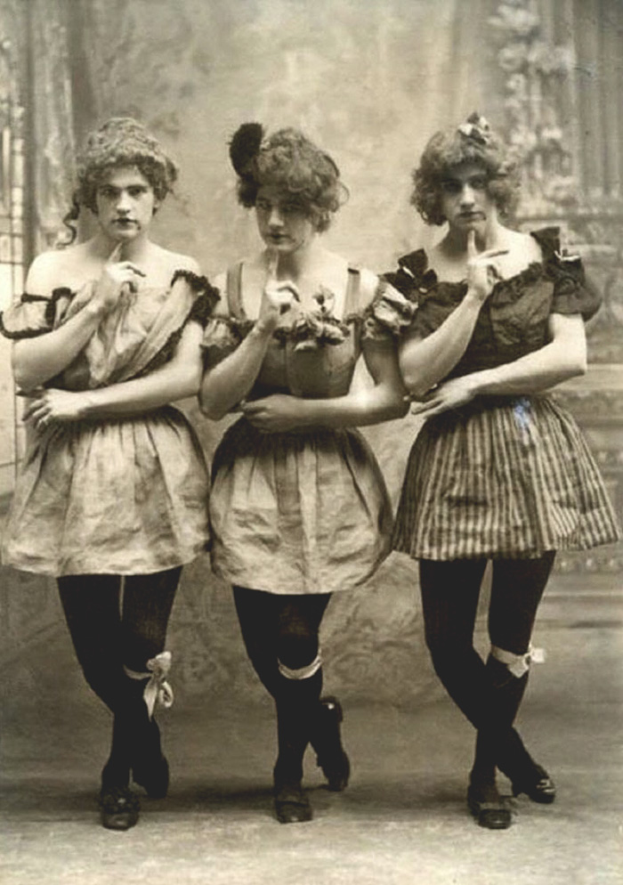 Three Fashionable Young Men At Yale, 1883